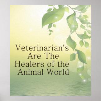 Veterinarians Are Healers Poster