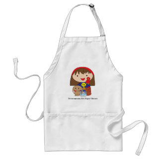 Veterinarians Are Super Heroes Apron