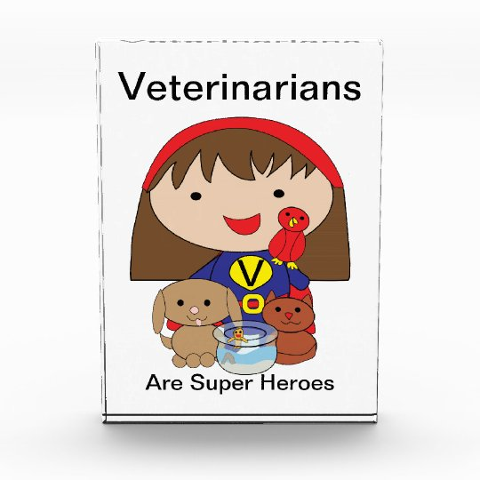 Veterinarians Are Super Heroes Award