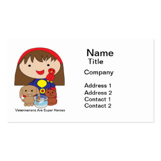 Veterinarians Are Super Heroes Business Card