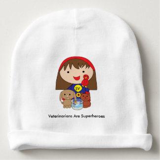 Veterinarians Are Superheroes Baby Beanie