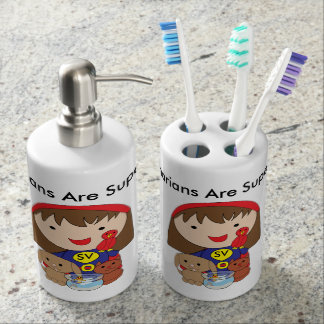 Veterinarians Are Superheroes Bathroom Set