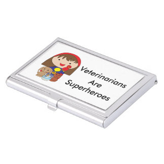 Veterinarians Are Superheroes Business Card Case