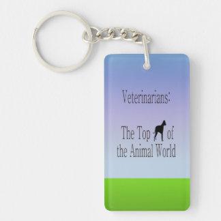 Veterinarians Are The Top Dog Single-Sided Rectangular Acrylic Keychain