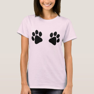 Veterinarians Assistant Big Black Paw Prints Funny T-Shirt