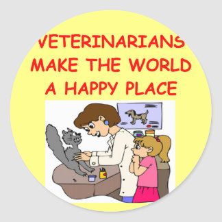 veterinarians classic round sticker