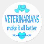 Veterinarians Make it Better Classic Round Sticker