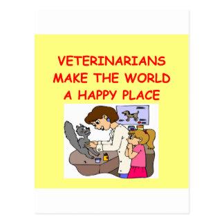 veterinarians postcard
