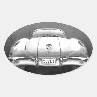 Veterinario 1958 pegatina de oval personalizadas