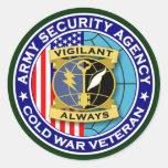 Veterinario 2 de la guerra fría del ASA Etiqueta Redonda
