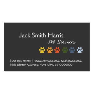 Veterinario colorido del mascota del perro de las tarjeta de visita
