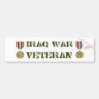Veterinario de la guerra de Iraq Pegatina De Parachoque