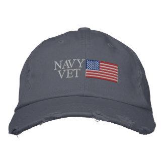 Veterinario de la marina de guerra con militares gorra bordada