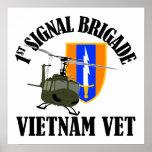 Veterinario de Vietnam - 1r Bde de los Sig Poster