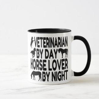 Veterinario del amante del caballo taza