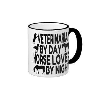 Veterinario del amante del caballo taza de dos colores