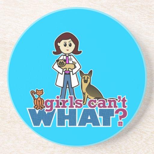 Veterinario del chica posavasos personalizados