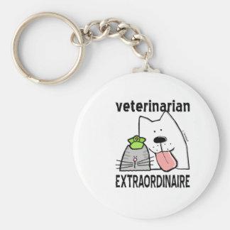 Veterinario Extraordinaire Llavero Redondo Tipo Pin