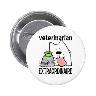 Veterinario Extraordinaire Pin Redondo De 2 Pulgadas