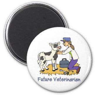 Veterinario futuro - chica con la vaca imán