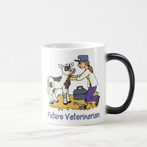 Veterinario futuro - chica con la vaca tazas