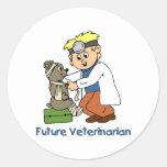 Veterinario futuro - Little Boy Etiqueta Redonda