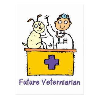 Veterinario futuro - muchacho tarjetas postales