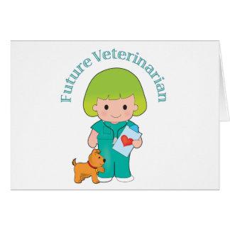 Veterinario futuro tarjetón
