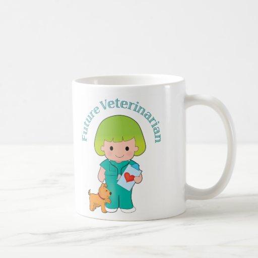 Veterinario futuro taza básica blanca