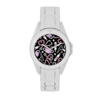 Veterinario lindo/amor veterinario del técnico relojes de pulsera