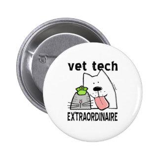 veterinario+veterinario de la pin redondo de 2 pulgadas