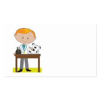 Veterinario y perro tarjetas de visita