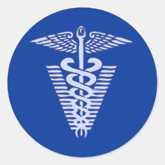 veterinariy logo 1 classic round sticker