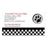 Veterinary Animal Paw Logo Checkerboard Business Cards