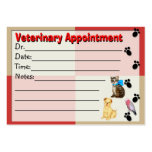 Veterinary Appointment reminder Card Business Card Template