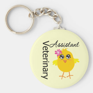 Veterinary Assistant Basic Round Button Keychain