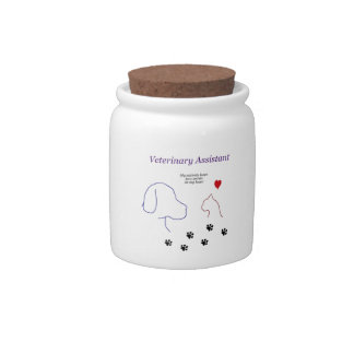 Veterinary Assistant-Paw Prints on My Heart Candy Dishes