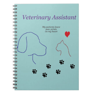 Veterinary Assistant-Paw Prints on My Heart Notebook