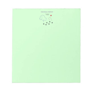 Veterinary Assistant-Paw Prints on My Heart Notepad