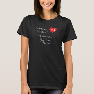 Veterinary Assistant Paw Prints on My Heart Shirt