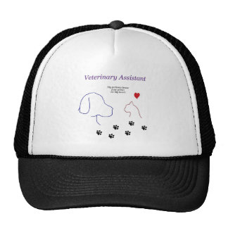 Veterinary Assistant-Paw Prints on My Heart Trucker Hat