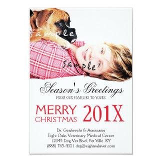Veterinary Business Pet Photo Christmas Mailer Card