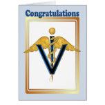 Veterinary Caduceus - Congradulations Greeting Card