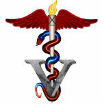 "Veterinary Caduceus Cutout<br><div class=""desc"">Animal Doctor Caduceus - Veterinarian</div>"