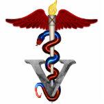 "Veterinary Caduceus Cutout<br><div class=""desc"">Animal Doctor Caduceus - Veterinarian</div>"