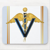 Veterinary Caduceus Mouse Pad