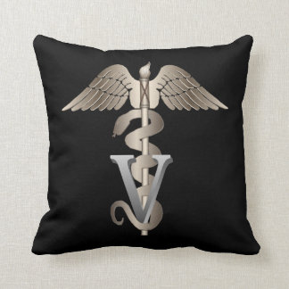 Veterinary Caduceus Throw Pillow