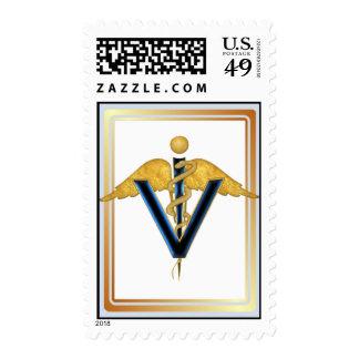 Veterinary Caduceus Postage Stamp
