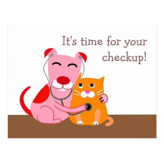 Veterinary Checkup Reminder Postcard