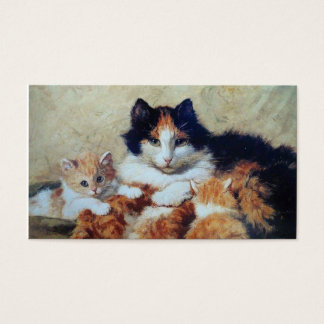 Veterinary Clinic Cat Boarding - Two Sided Business Card